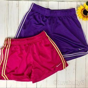 Nike Girls 2 Piece Bundle Athletic Shorts, Size M